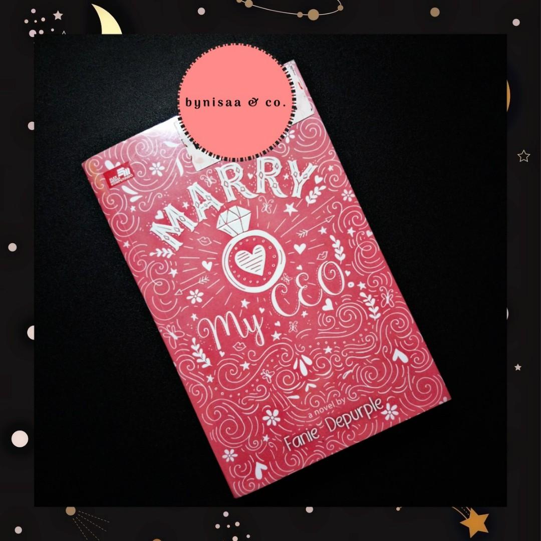 Preloved novel : Marry My CEO by Fanie Depurple