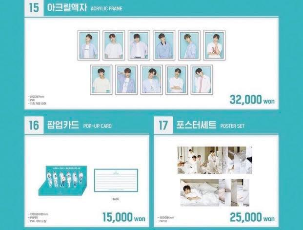 PREORDER WANNA ONE SUMMER POPUP STORE OFFICIAL GOODS