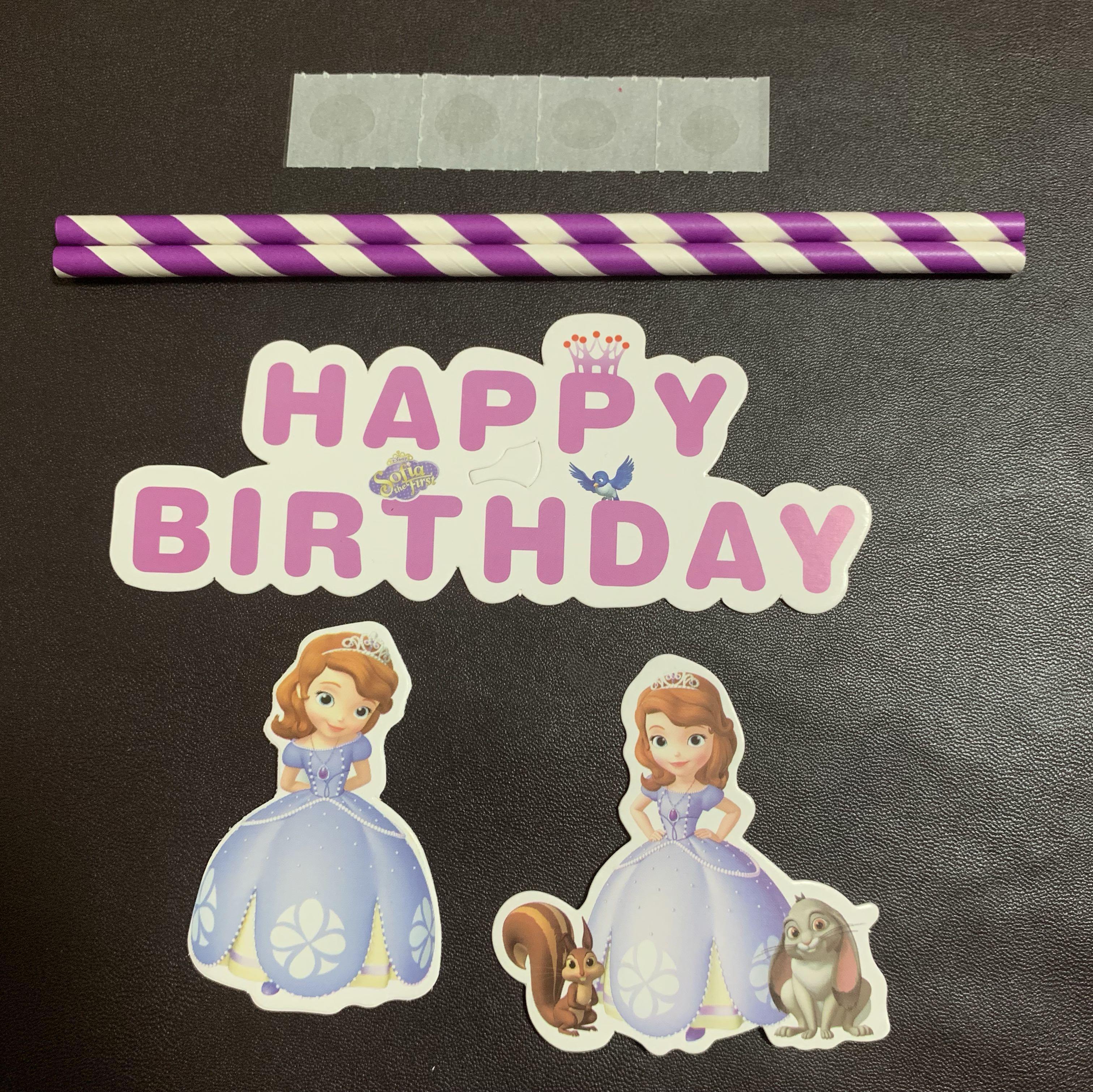 Groovy Princess Sofia The First Happy Birthday Cake Topper Design Funny Birthday Cards Online Inifodamsfinfo