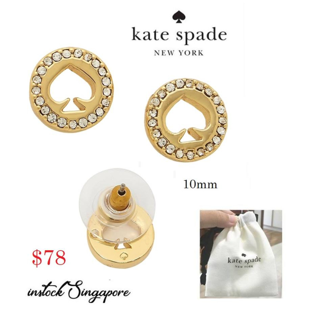 eac47141276a93 READY STOCK- AUTHENTIC-NEW Kate Spade Spot The Spade Pave Halo Spade ...