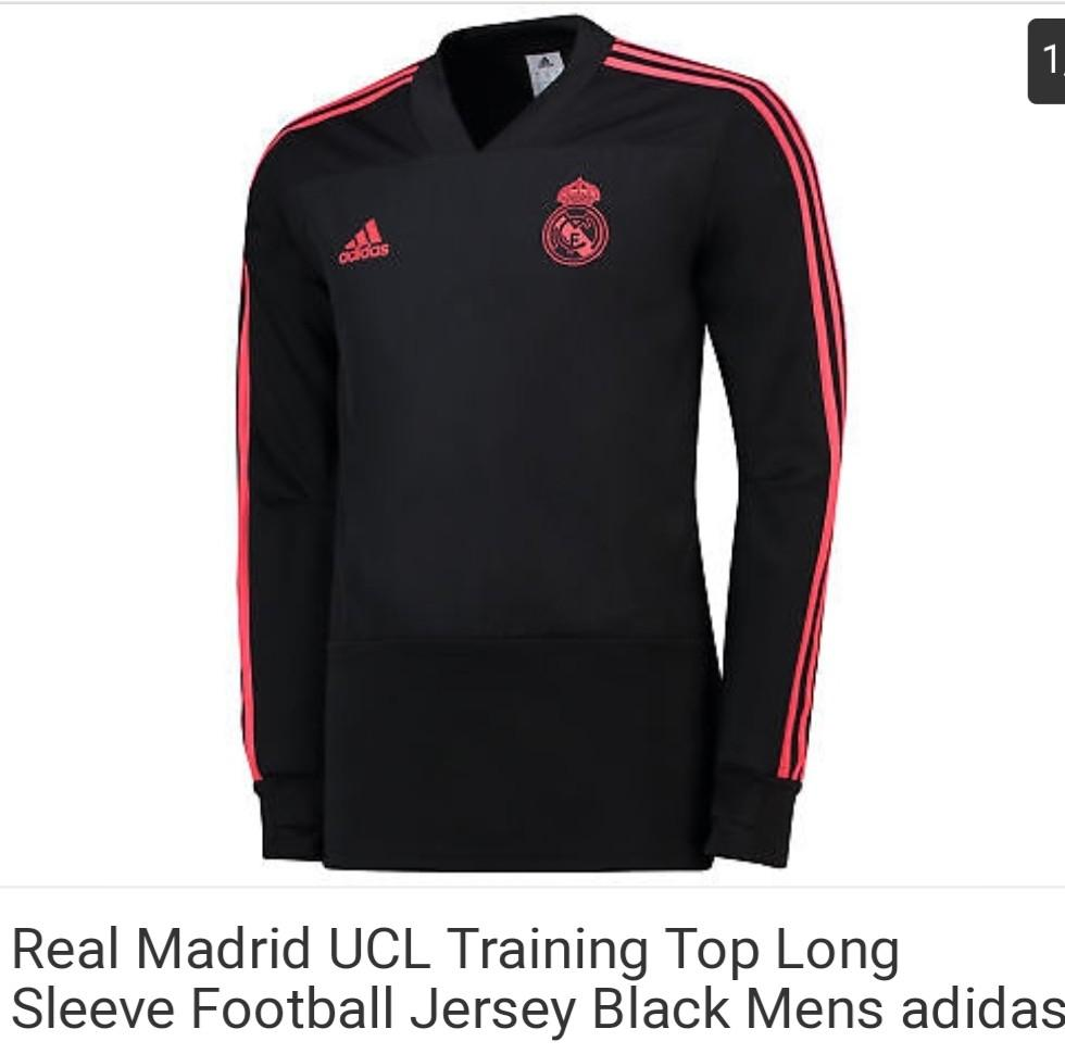 best service c622e 74d21 2-3XL Real Madrid black/red long sleeves training, Men's ...