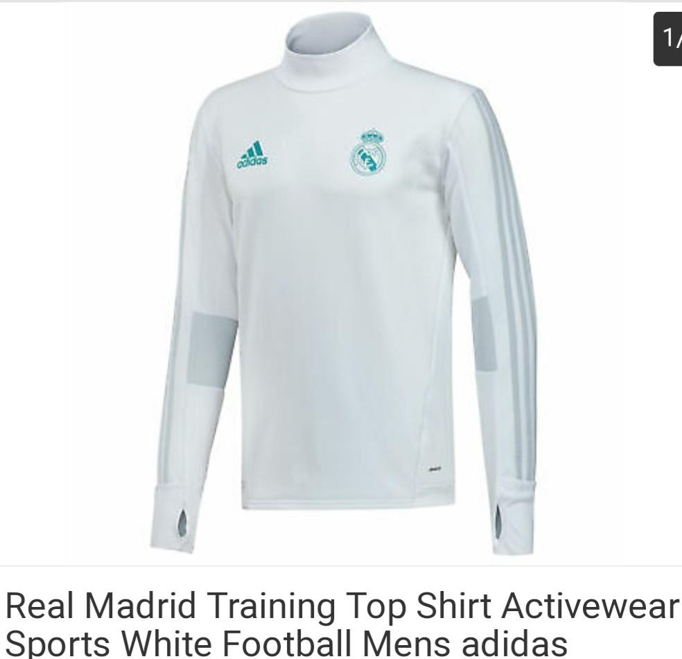 premium selection 95d34 70215 Real Madrid long sleeves active wear, Men's Fashion, Clothes ...
