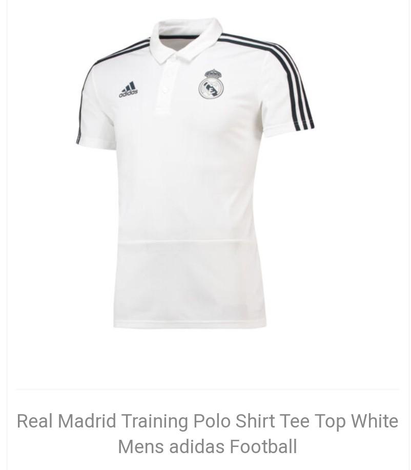 e1e930cde2d Real Madrid white polo training