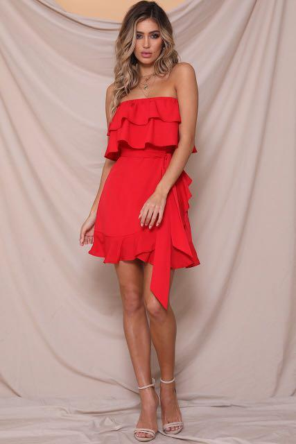 Runway the Label - While it's Hot Mini Dress - Red 14