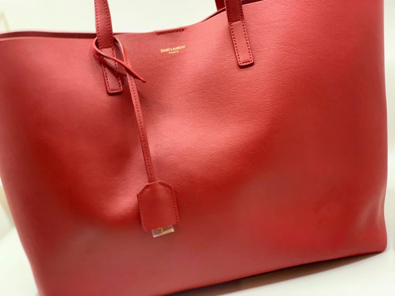Saint Laurent Shopping Tote Eros Red