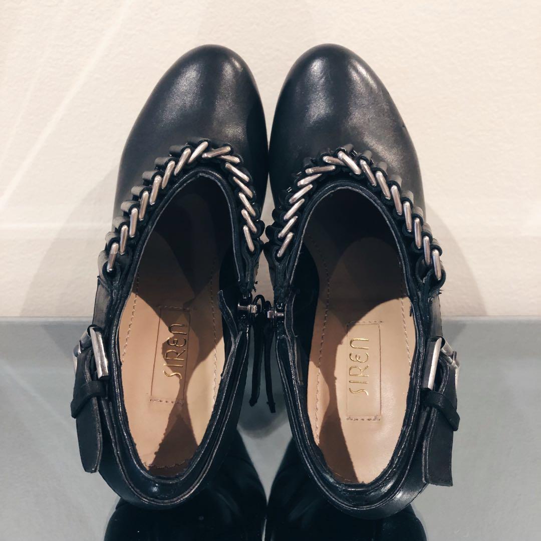 Size 5 SIREN Ankle Short Black Platform Stiletto Boots