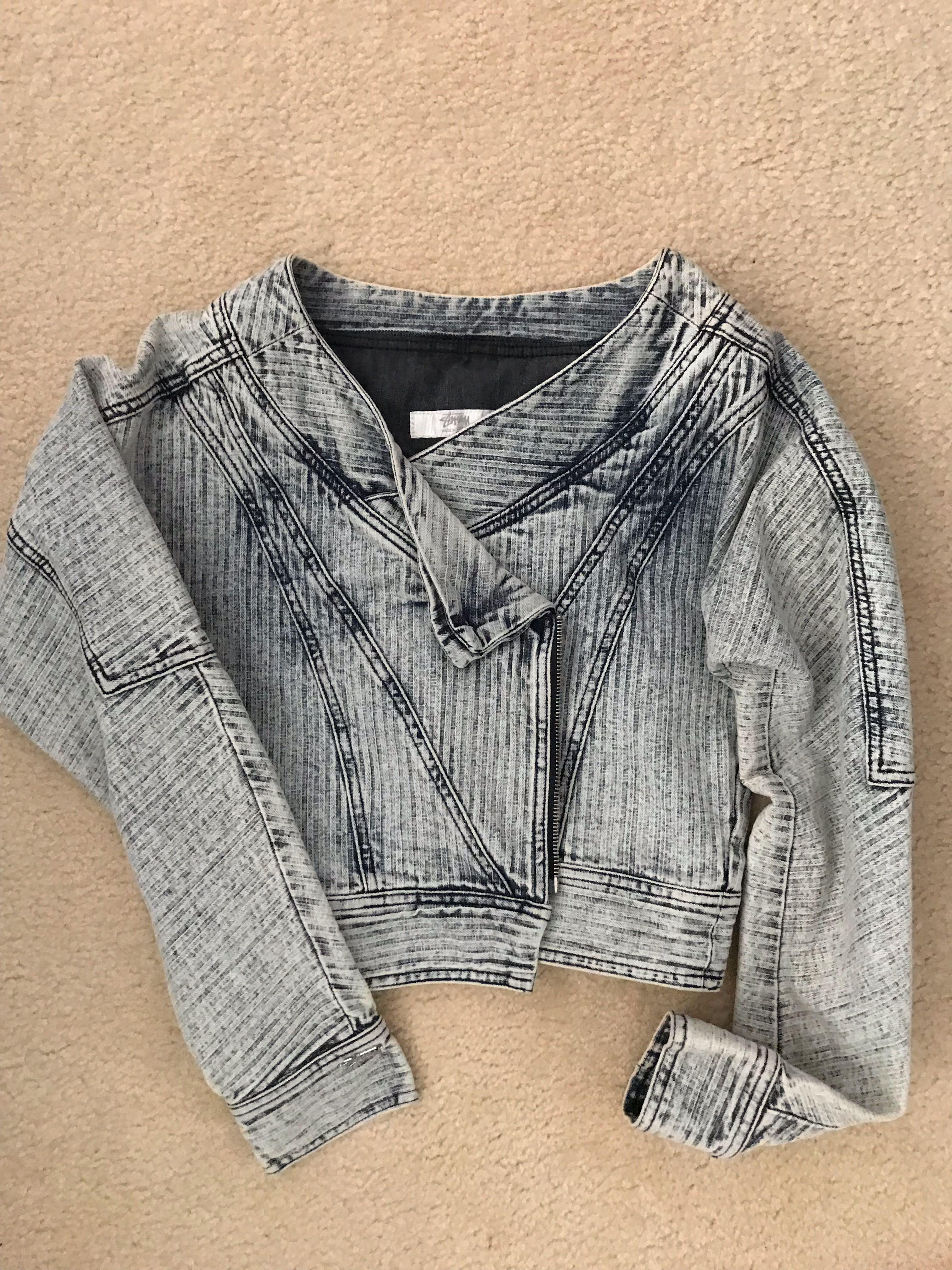 Stussy Cropped Denim Jacket