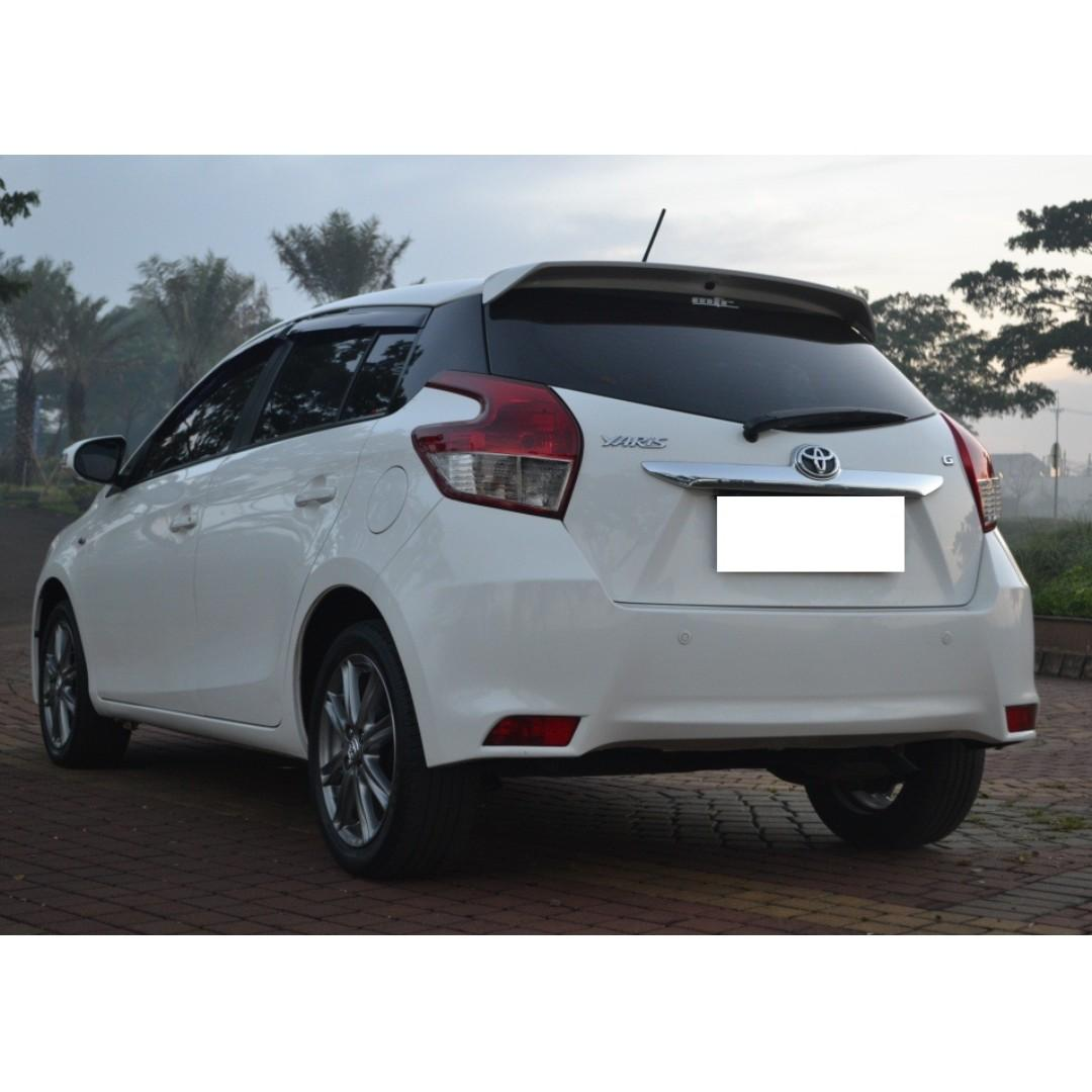 Toyota Yaris 2016 Putih Km 30 Rb Full Orisinil Tdp 10Jt