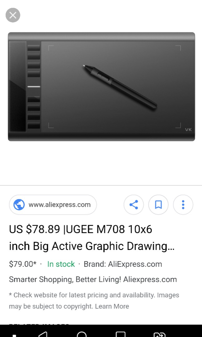 Ugee M708 graphic tablet