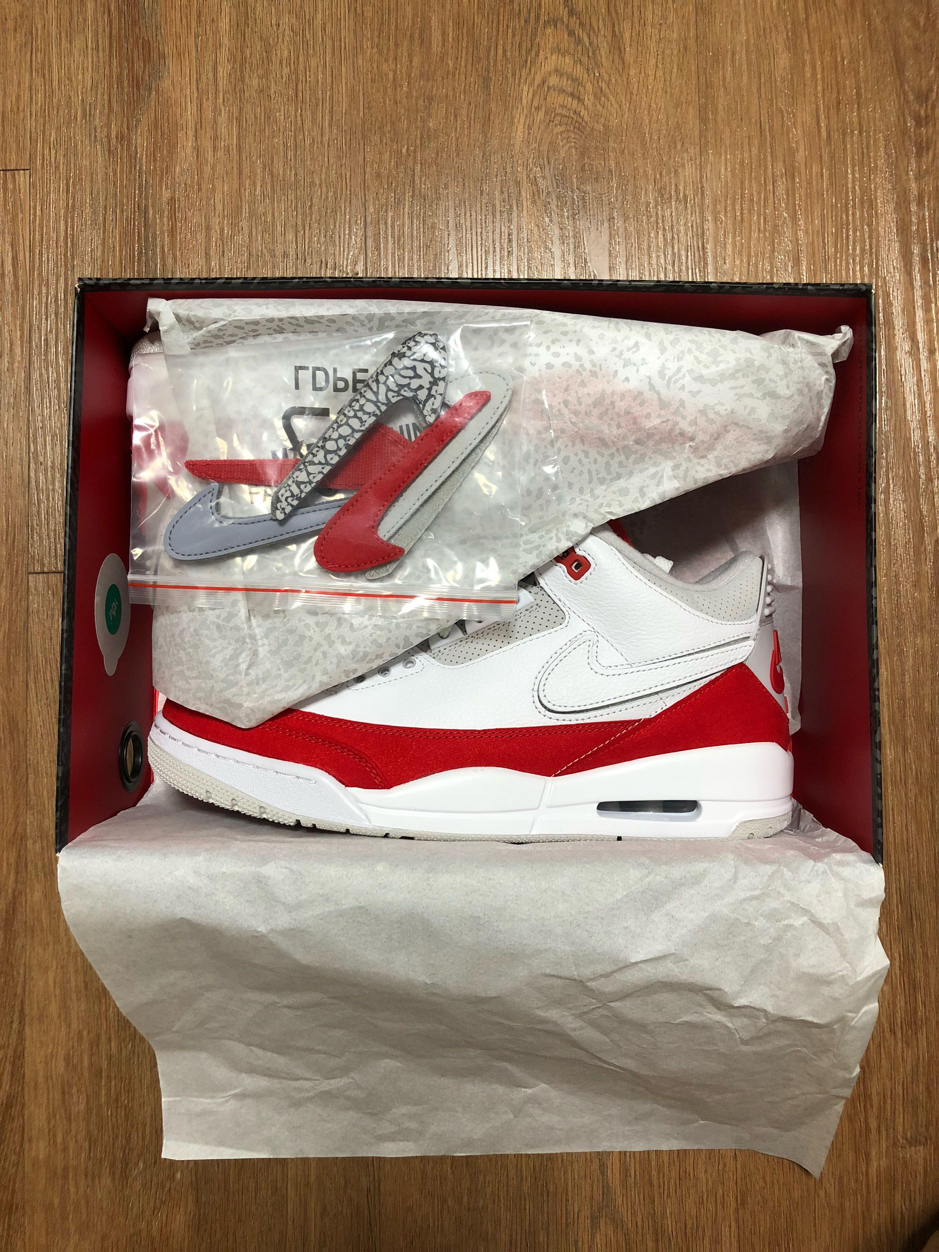 """bc2a48c9cf22 US10 Air Jordan 3 Tinker """"University Red"""" in Hand on Carousell"""