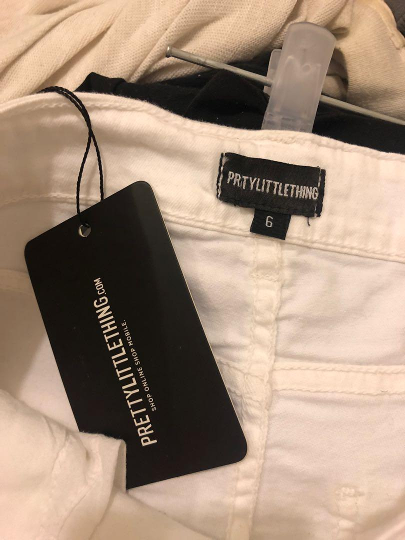 White Denim Skirt Pretty Little Thing