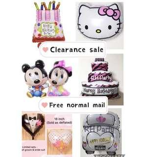 (3/4) Clearance sale on balloons (Promotion) refer to listing for the prices