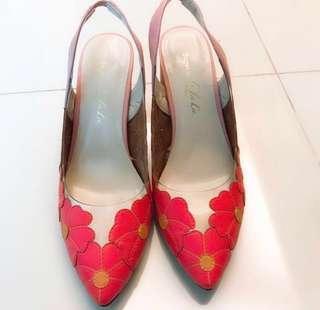 日本專櫃品牌花朵高跟鞋出清