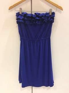 Nichii electric blue long top dress