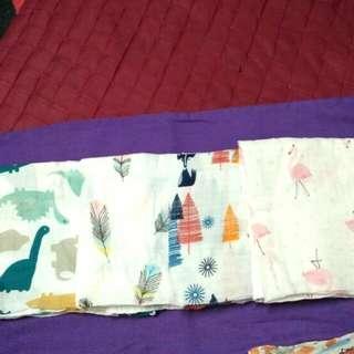Muslin swaddle/napkin/bedung/blanket