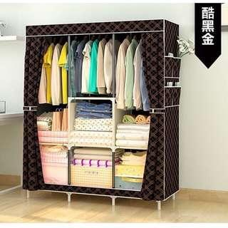 TODAY OFFER - Simple fabric assembly steel cabinets wardrobe