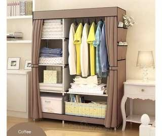 TODAY OFFER - Canvas Wardrobe Coffee Brown