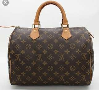 🚚 AUTHENTIC LOUIS VUITTON SPEEDY 30 BOSTON