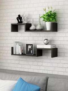DIY Book Shelves in Black x2