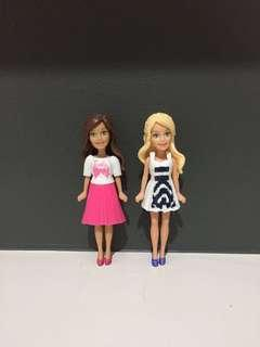 2pcs Barbie Mini