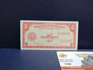 Duit Lama Philippine 5 Centavos 1949 🇵🇭