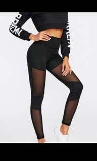 Mesh black leggings