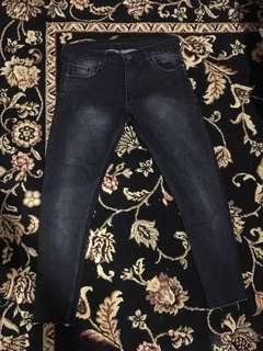 VANS jeans slim fit black washed