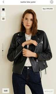 Leather biker jacket woman original
