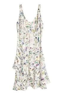 🚚 White Spring Floral Swing Dress UK12