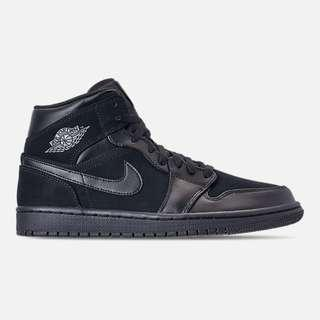 Authentic Nike Air Jordan 1 Mid Retro Triple Black