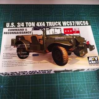 1/35 AFV AF35S16 美軍 3/4 ton WC57 吉普車 模型