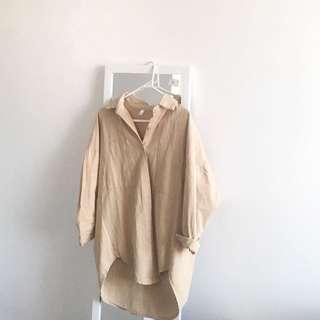 Oversized blouse coat #beige size 8-10