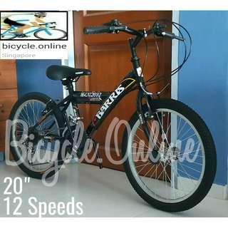 """20"""" 12Speeds Mountain Bikes * suitable for riders above 120cm height * Brand New Harris Bicycle"""
