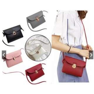 (PO) New Fashion Women Retro Casual Pu Leather Shoulder Sling Bag