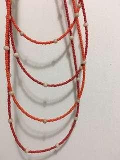 Red and orange beaded necklace #SwapAU
