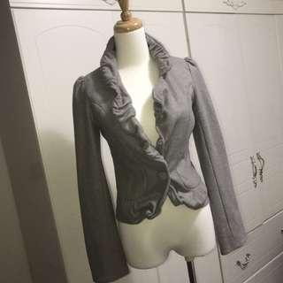 🚚 香港𝓈𝒽𝒾𝓃灰色短版外套