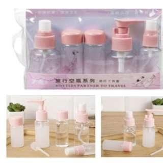 🚚 (PO) 5 Pcs Portable Refill Travel Skin Care Lotion Shampoo Cosmetic Spray Pump Bottle