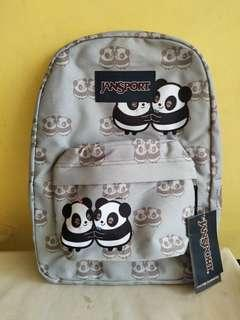 Panda lover jansport original large backpack