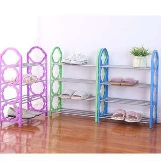 (PO) 4 Tiers Shoe Rack 4 Layer Display Shoes Storage