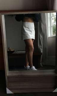 THE ICONIC White 'denim' skirt