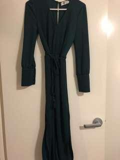 **SOLD PRIVATE** 'Temt' Forest Green Dress Size S