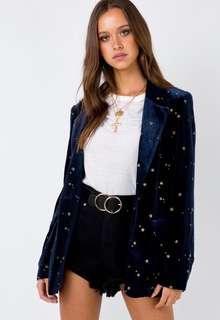 MinkPink Constellation Velvet Blazer