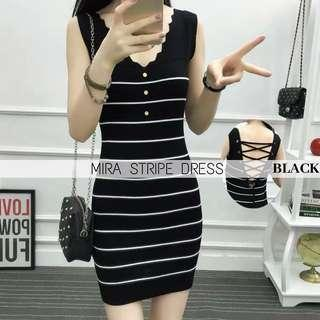 MIRA STRIPE DRESS