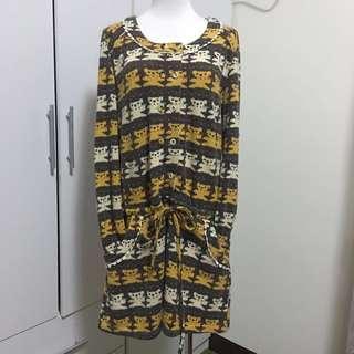 🚚 韓國購入可愛圖騰設計洋裝