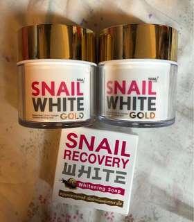 泰國Snail White Gold 50ml 同 肥皂 3樣野