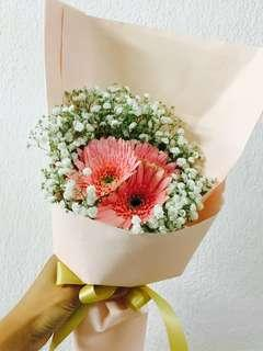 🚚 Fresh Gerbera Flower Bouquet | Hand Bouquet
