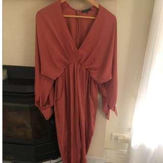 Sheike Dress - Silk Orange