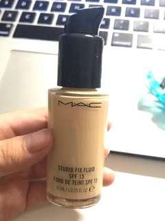 mac studio fix fluid foundatuon nc15
