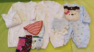 🚚 🌷倫瑀蓉媽咪生活小鋪🌷超值全部寶寶連身套裝組