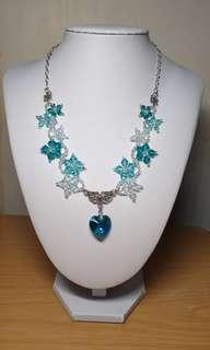 🚚 Swarovski necklace & earring set in turquoise tones